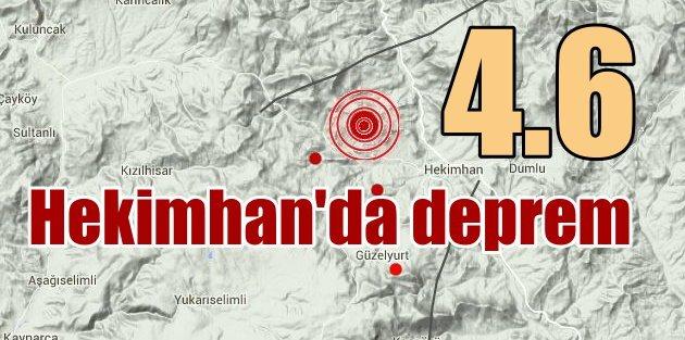 Malatya'da deprem Hekimhan depremi vatandaşları korkuttu
