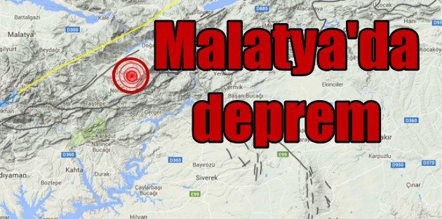 Malatyada deprem: Malatya Pütürge 4.1 ile sallandı