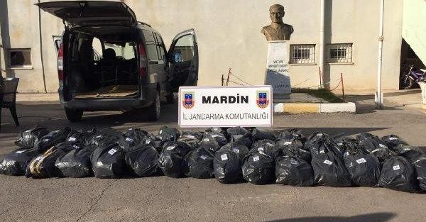 Mardin'de 296 kilo esrar, 1 tutuklama