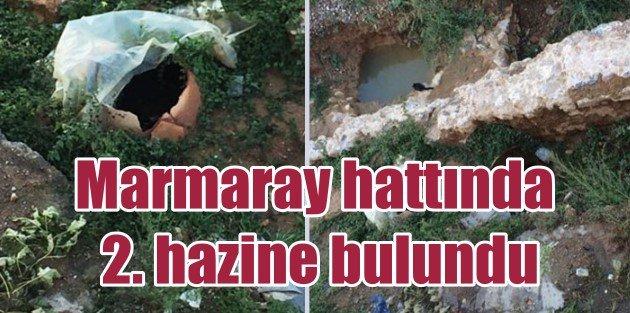 Marmaray hattında define bulundu