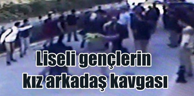 Marmaris'de liseliler döner bıçaklarıyla kavga etti