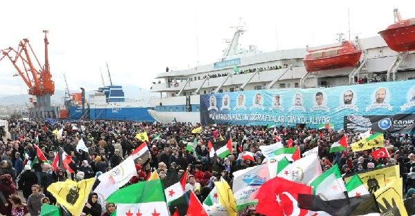 Mavi Marmara Gemisi Samsun'da ziyarete açıldı