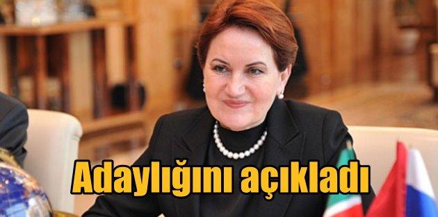 Meral Akşener adaylığını...