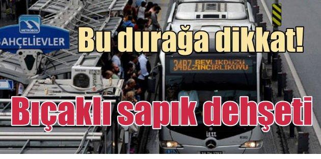 Metrobüs yolunda önce taciz ardından gasp