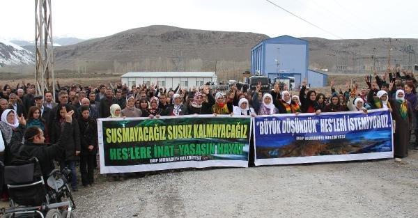 Muradiye'de HES protestosu