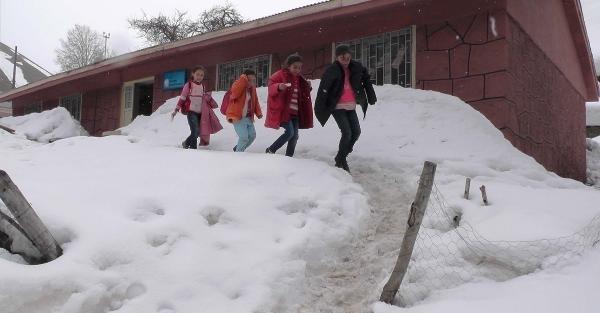 Muş'ta dağ köyleri kar altında