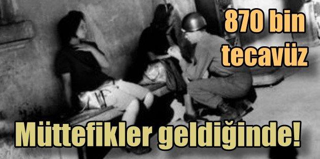 Müttefik Amerikan askerleri 860 bin kadına tecavüz etmiş
