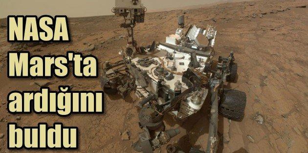 NASA, Marsta hayat izleri bulduğunu açıkladı