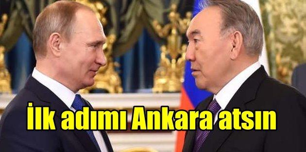 Nazarbayev arabulucu oldu, Putinin gözü Ankarada