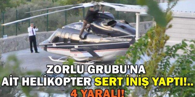 Nazif Zorlu Helikopter Kazası Geçirdi