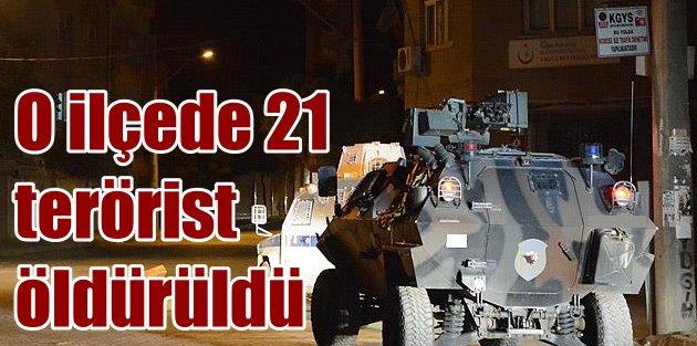 Nusaybinde neler oldu; Çatışmalarda 21 terörist öldürüldü