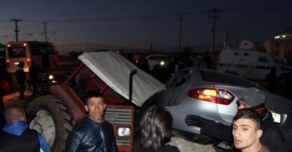 Nusaybin'de Zincirleme Kaza; 2 Yaralı