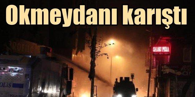 Okmeydanı savaş alanına döndü, göstericiler polisle çatıştı
