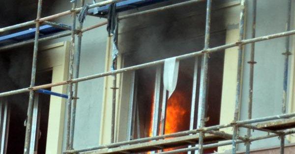 Ordu'da Belediye Hizmet Binası İnşaatinda Yangın