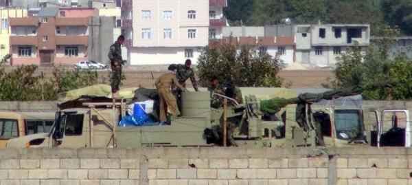 Peşmergenin Geçiş Yapmayı Beklediği Kobani'de Çatişma Şiddetlendi (3)