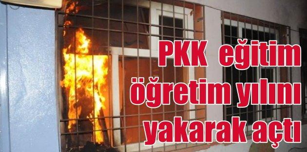 PKK Cizrede eğitim öğretim yılını 3 okulu yakarak açtı