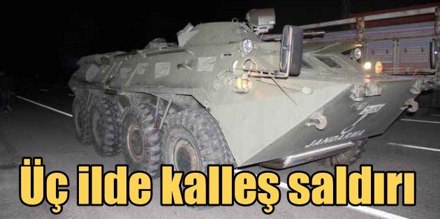 PKK, gece yarısı üç ayrı şehirde saldırdı