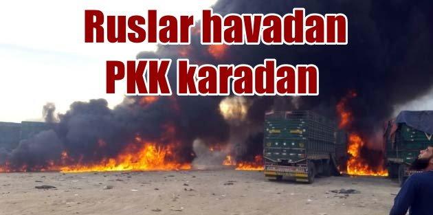 PKK karadan, Ruslar havadan saldırıyor
