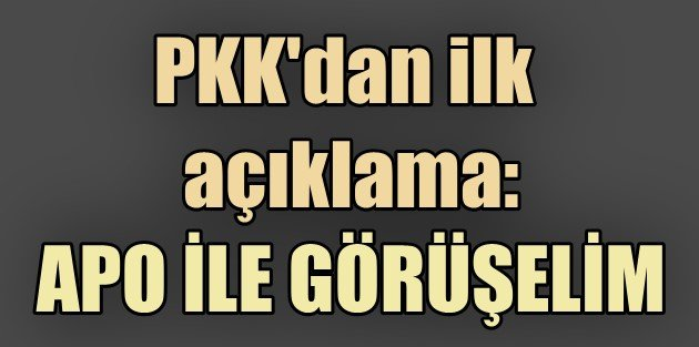 PKK Silah bırakacak...