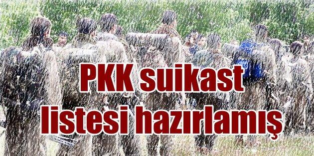 PKK, Sol örgütlere taşeron görevi vermiş, Suikast listesi