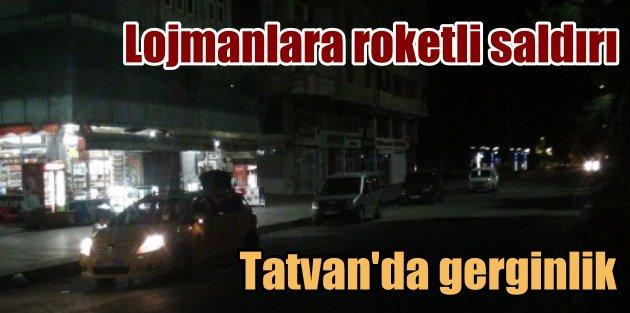 PKK, Tatvanda polis lojmanlarına roketatarla saldırdı