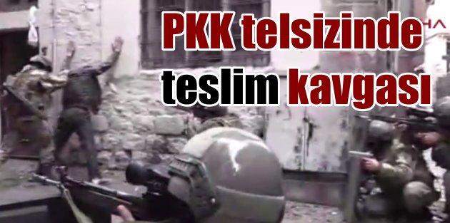 PKK telsizinde teslim olma paniği ve kavga var