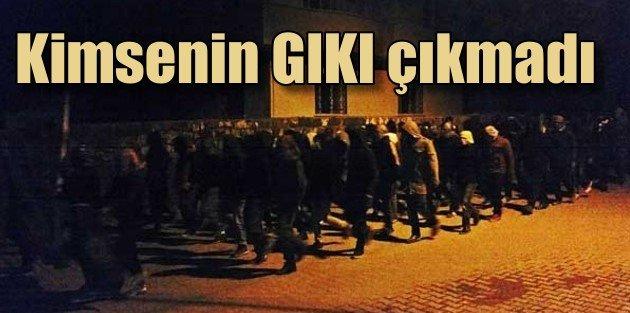 PKKlı katiller silahlarıyla geçit töreni yaptı, kimsenin gıkı çıkmadı