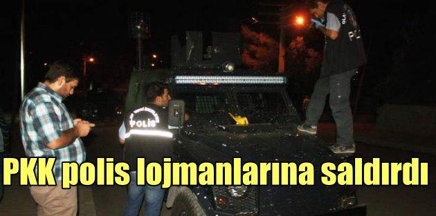 PKKlı teröristler bombalarla polis lojmanlarına saldırdı