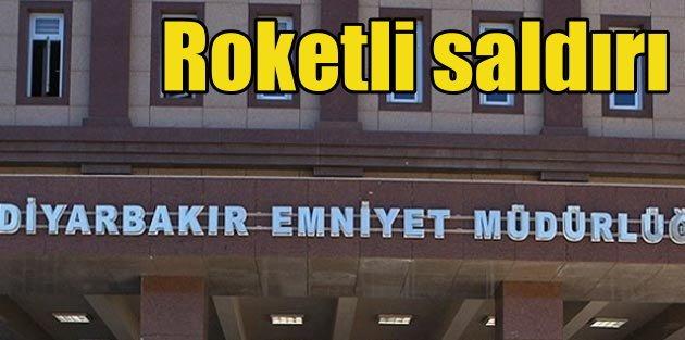 PKKlı teröristler Diyarbakırda Emniyet Müdürlüğüne roketle saldırdı