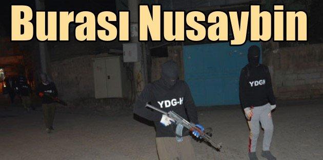 PKKlı teröristler Nusaybinde devriyeye çıktı