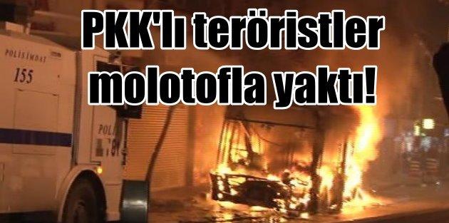 PKK'lı töreristler İETT otobüslerini yaktı kaçtı
