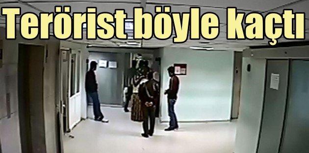 PKKlı yaralı terörist, hastanede 4 polisi atlatarak kaçtı