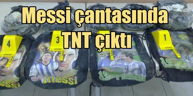 PYD'li teröristler Messi torbalarında TNT ile yakalandı
