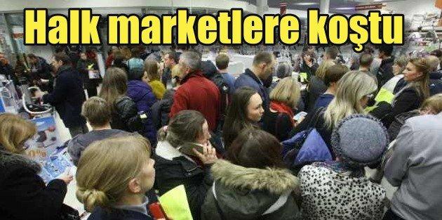 Ruble krizi Belarusu vurdu, halk marketlere hücum etti raflar boşaldı
