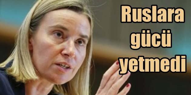 Rusları durduramayan AB, Türkiye'ye seslendi