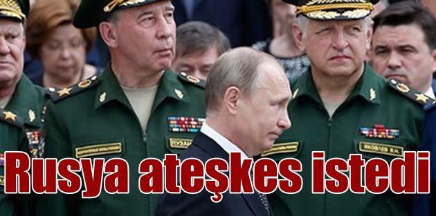 Rusya ilk kez Suriye için ateşkes istedi