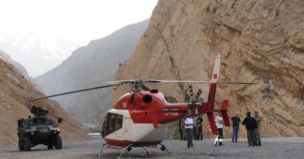 Sağlık Bakanlığına ait  helikopteri hava muhalefeti nedeniyle acil iniş yaptı