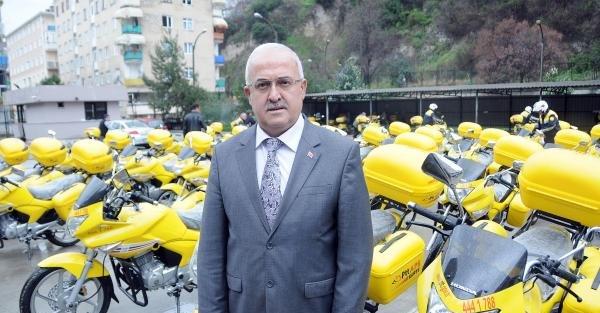 Samsun PTT'ye 41 yeni motosiklet