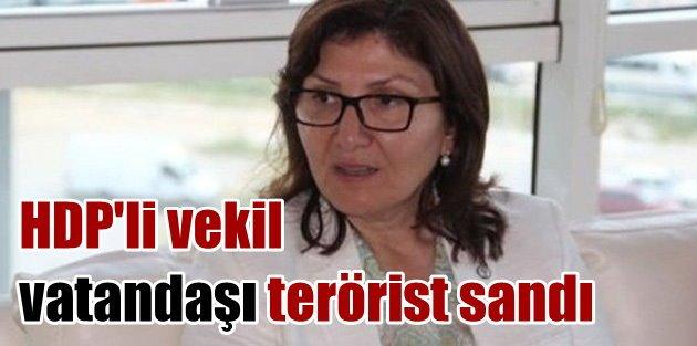 Sanki hiç terörist görmediler: HDPli vekil vatandaşı terörist sandı