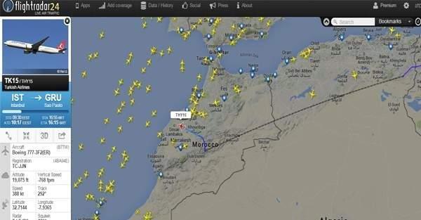 Sao Paulo uçağı acil iniş yapıyor (1)
