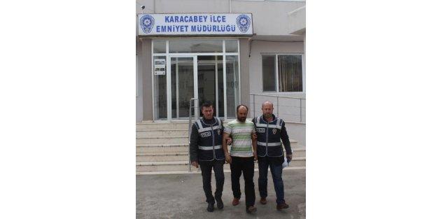 Sebze hırsızı tutuklandı