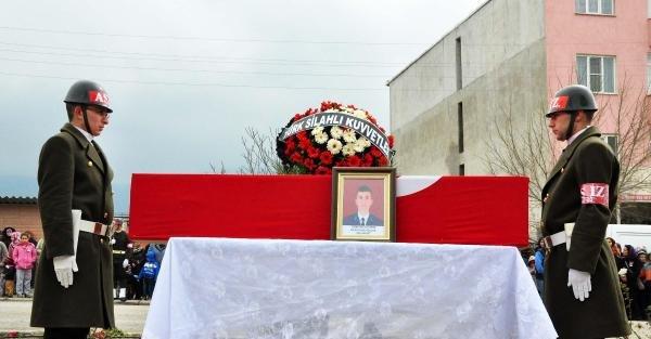 Şehit Astsubay Gökhan Yıldırım, Soma'da toprağa verildi