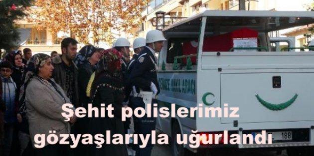 Şehit polislerimiz gözyaşlarıyla toprağa verildi….