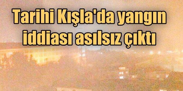 Selimiye Kışlasında korkutan yangın
