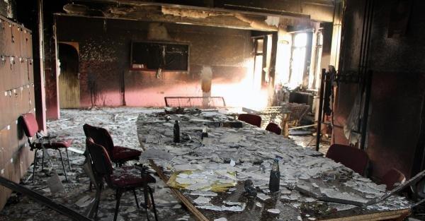 Silopi'de İlkokul Ateşe Verildi