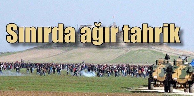 Sınırda Kobani gerginliği, 2000 kişi Suriyeye geçmek istedi