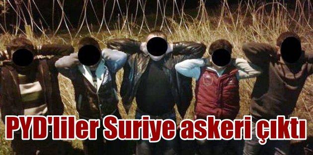 Sınırda yakalanan PYD'li teröristler Suriye ordusu askeri çıktı