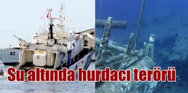 Su altında hurdacı terörü: Turizm için batırılan gemiyi dinamitlediler