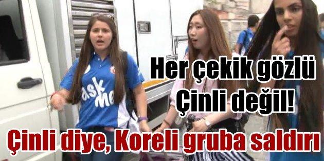 Sultanahmette Çinli sandıkları Koreli turist gruba saldırı