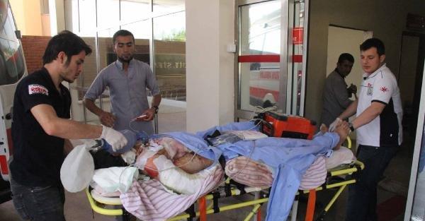 Suriye'de yaralandı, Şanlıurfa'ya tedaviye getirildi